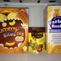 Jual Paket Hemat G : Yummy Bites 123+Laperma+Farley Rusk Murah