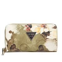 Dompet guess zip wallet floral