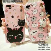 Jual cute neko cat head tassel soft case casing oppo iphone vivo Murah