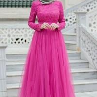model baju muslim gamis terbaru dan modern maxy Almer ft ATAS BRUKAT