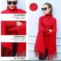 Jual DeltaRN Batwing Verve Merah Baju Atasan Model Kalong Blouse Jumbo Rum Murah
