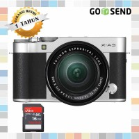 Fujifilm / Fuji X-A3 / XA3 Kit 16-50mm Kamera Mirrorless - Silver