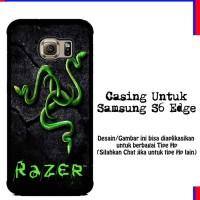 Casing Samsung S6 Edge razer motif Custom Hardcase Cover