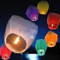 Jual ampion lentera terbang sky lantern new year tahun baru natal api fire Murah