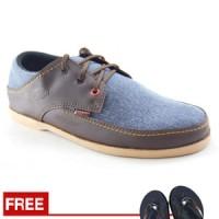 Jual  Sepatu Redknot Brianette Blue Brown   Casual Pria T1910 Murah