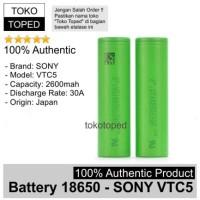 Authentic Battery 18650 Sony VTC5 2600mAh 30A | original baterai vtc 5