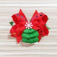 Jepitan Rambut Model Salju Cantik / Merry Christmas Xmast Tree
