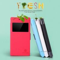 Jual Case Sony Xperia M2 (S50h) Nillkin Fresh Leather Case - Original Murah