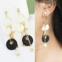 Jual Minimalist Round Tassel earrings Murah