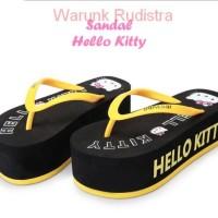 Jual Promo !Sandal HELLO KITTY (BLACK) Tnggi 5.5 cm- sangat Murah