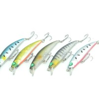MC-01-3DFL Umpan Minnow Crank Bait 3D-eyes Floating Light Lure