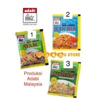 Adabi Malaysia bumbu serbuk nasi goreng ayam, ikan bilis, kampung