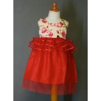 Jual Dress peplum  red Murah