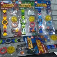 Jual Jam Tangan Anak Blocks (lego) Superhero | Mainan Anak Murah