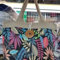 Tas Kanvas Motif Import Tote Bag Shoulder