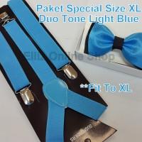 Jual Paket Special Color - Suspender/Bretel Dewasa (Fit XL) + Dasi Kupu2 Murah