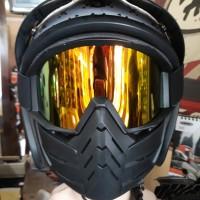 Goggle Masker / Kacamata Masker Hitam Berkualitas Import