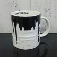 Starbucks Relief Mug Amsterdam Black and White