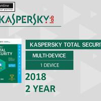 Kaspersky Total Security / Pure 2018 1 Pc 2 Tahun
