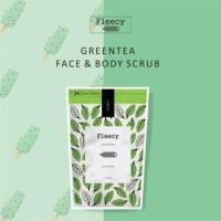 Jual PROMO KECANTIKAN fleecy face n body scrub green tea original AMAN Murah