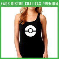 Jual Kaos Pokemon Go Logo 5 Tanktop Wanita Cewek TKT-TAC97 Murah