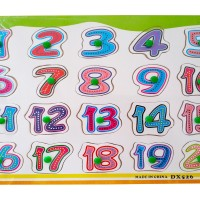 Jual Puzzle Kayu Angka 1 20 Wood Knob Pin Hijau Mainan Edukasi Anak Murah