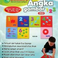 Jual Evamat Angka Gambar Karpet Karet Puzzle Mainan Anak Berhitung Murah
