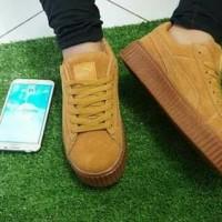 Real Pic sepatu/sandal PUMAA RIHAANA COKLAT/TAN murah