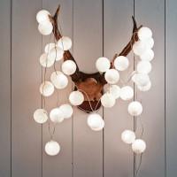 Jual All White Cotton Ball LED Light Murah
