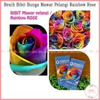 Jual Benih Bibit Bunga Mawar Pelangi - Rainbow Rose Murah
