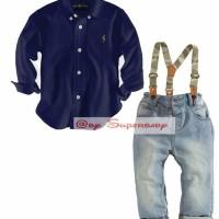 CLOB - 1642 SH 625 Superbaby Brand POLO DARK BLUE Shirt + Sus
