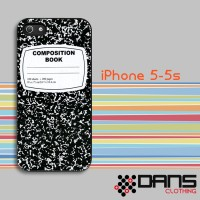 iPhone Case - iPhone 5s Composition Notebook Cover