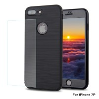 360 carbon fiber protection case IPhone 8/8 plus + free tempered glass