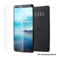 360 carbon fiber protection case samsung galaxy J7 Pro + free tempered