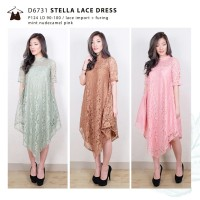 D6731 STELLA PASTEL LACE DRESS