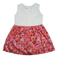 Bh4 Macbee Kids Baju Anak Dress Sahara Red