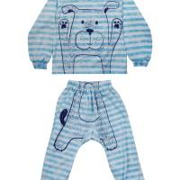 Ex6 Macbear Baju Anak Piyama Puppy Blue