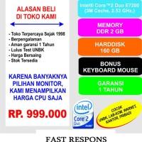 Komputer Murah UNBK Intel Core2Duo E7200