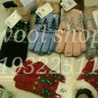 Jual NATAL/ sarung tangan corak pohon natal winter /TERLARIS Murah