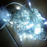 Jual NATAL/ LAMPU LED POHON NATAL 10 M KABEL PUTIH CHRISTMAS TREE LIGHT Murah