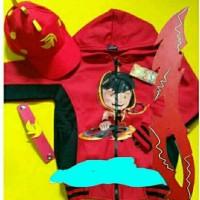 Jaket Boboiboy Api Blaze +Pedang+Topi dan Gelang
