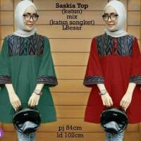 Jual cn 55593 saskia top atasan blouse tunik kemeja batik songket etnik Murah