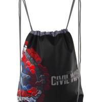 Jual Tas Serut Captain America - Bag Adinata Karakter Anak Les Sekolah Murah