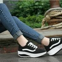 PROMO SPESIAL Kets Vans Hitam Sepatu Wanita