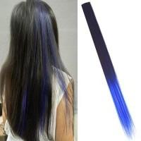 Jual Ombre Gradient Wig Hair Clip 9 Black Blue / Rambut Palsu Murah