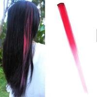 Jual Ombre Gradient Wig Hair Clip 3 Pink Light / Rambut Palsu Murah