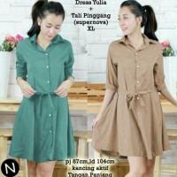 Fashion Pakaian Cewek 56256 dress yulia/midi dress/baju wanita