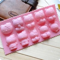 Jual Cetakan kitty coklat es puding jelly hello kitty mold/cetakan es batu Murah