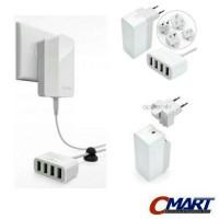 Jual Capdase Charger 4 Port USB Ke Listrik Adaptor Adapter 4.2A - AD00-7P02 Murah