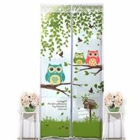 Jual Tirai pintu magnet anti nyamuk motif OWL    Murah